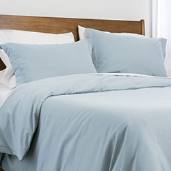 blue prewashed duvet cover bedroom set