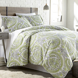 green paisley print comforter bedroom set