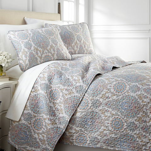 Boho Paisley Quilt Set in Aqua from Southshore Fine Linens