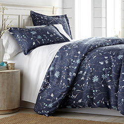 blue floral print comforter chic bedroom set
