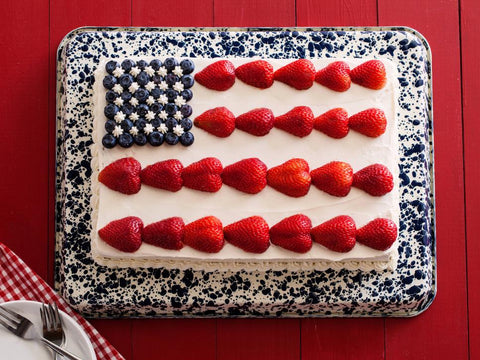American Flag Strawberry Cake