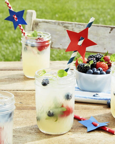 July Forth Lemonade with Fruit