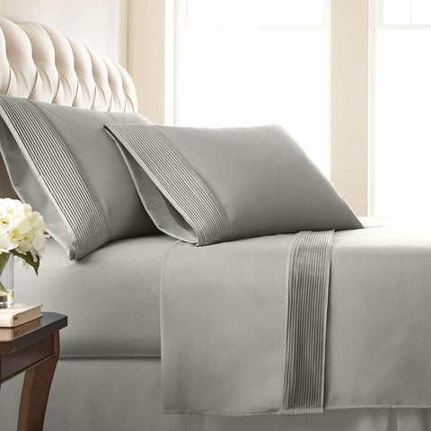 Vilano Springs Extra Deep Pocket Pleated Hem Sheet Set