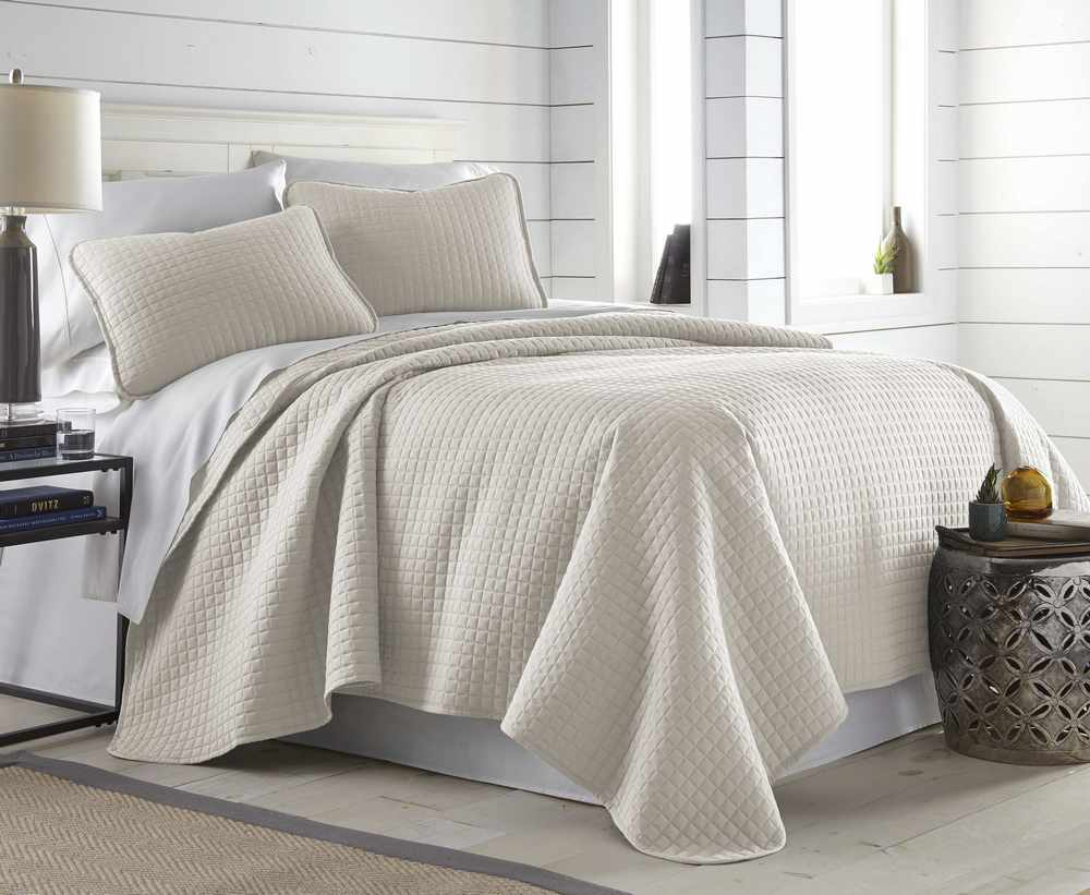 Vilano Springs Quilt Set – Bone Color