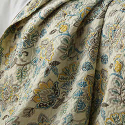 cream floral print duvet pattern closeup