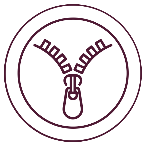 zipper closure icon