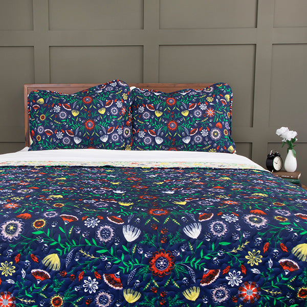 Boho Bloom Reversible Quilt Set