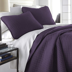 Vilano Square Quilt Set in Purple