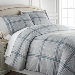 Vilano Plaid Duvet Cover in Grey