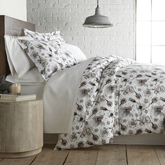 Grand Symphony Duvet Cover in Grey