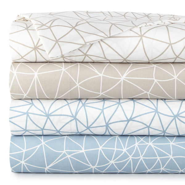 all colors geometric maze sheet stack