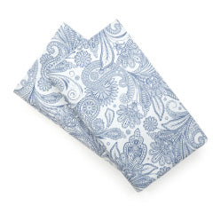 pair of blue and white paisley print soft pillowcases set