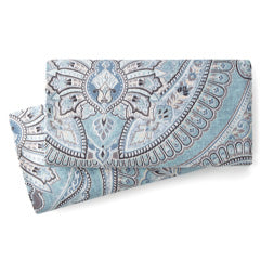 blue and grey paisley printed pillowcase set