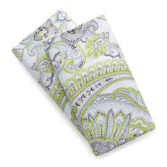 green and white paisley printed boho pillowcase set