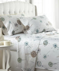 The Dandelion Dreams collection brings a touch of nature into your bedroom and create an inviting, comfortable bed.