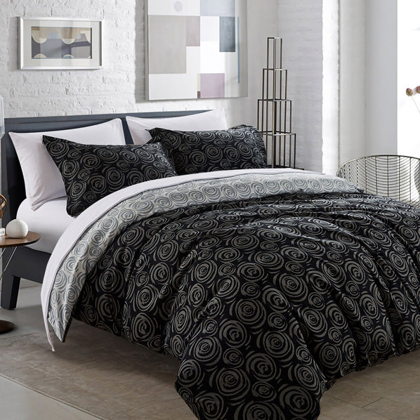 Whimsical swirls duvet cover