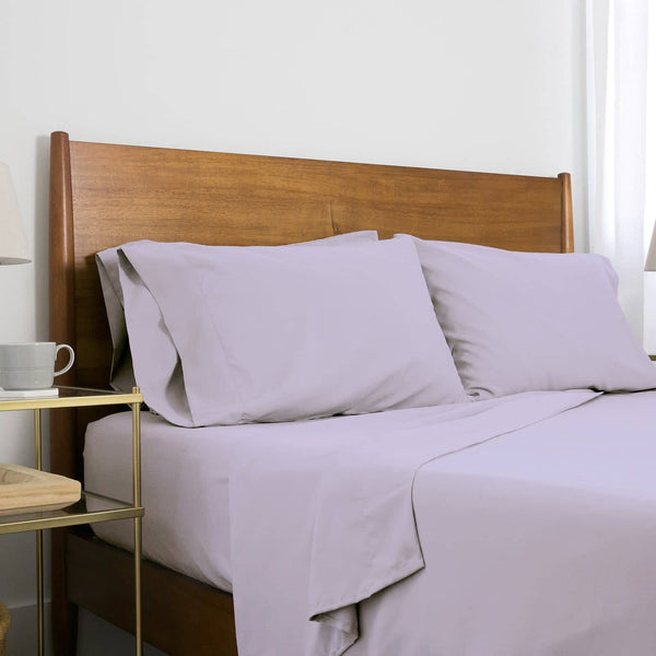 Extra-Soft Springtime Pastels Solid Color Brushed Microfiber Deep Pocket 6-Piece Sheet Set in Evening Haze