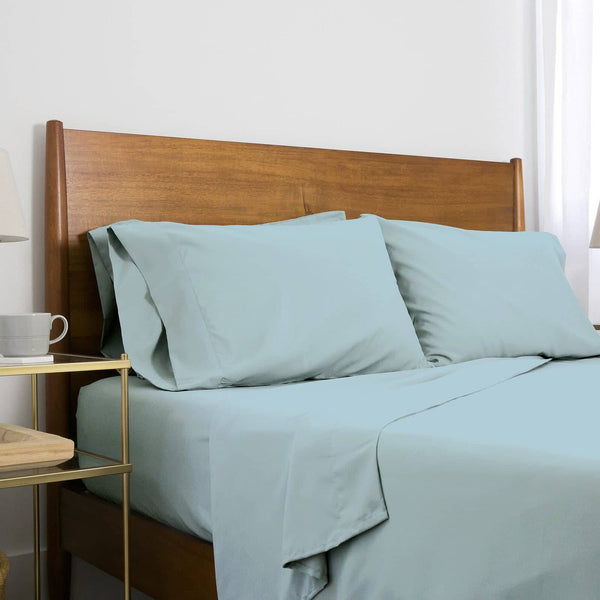 Extra-Soft Springtime Pastels Solid Color Brushed Microfiber Deep Pocket 6-Piece Sheet Set in Light Blue