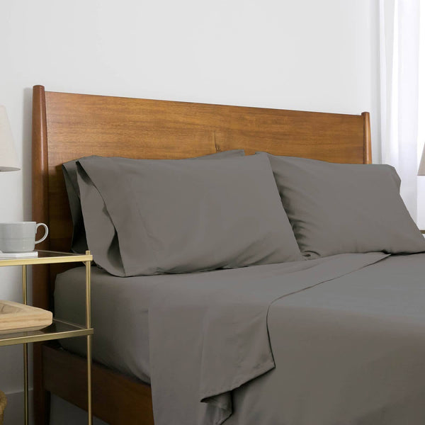 Extra-Soft Neutral and Solid Color Brushed Microfiber Deep Pocket 6-Piece Sheet Set in Slate