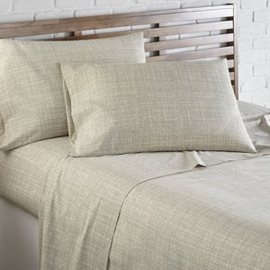 Soft and Comfortable Olive Muted Mesh Microfiber Sheet and Pillowcase Set by Southshore Fine Linens Image 2