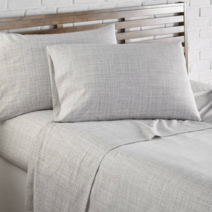 Soft and Comfortable Grey Muted Mesh Microfiber Sheet and Pillowcase Set by Southshore Fine Linens Image 2