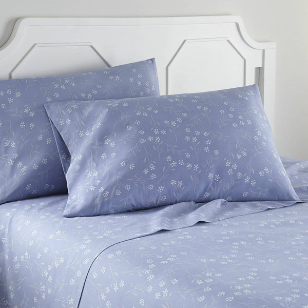 Soft and Comfortable Blue Blossoms Microfiber Sheet and Pillowcase Set by Southshore Fine Linens Image 2