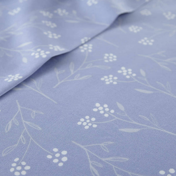 Soft and Comfortable Blue Blossoms Microfiber Sheet and Pillowcase Set by Southshore Fine Linens Image 3