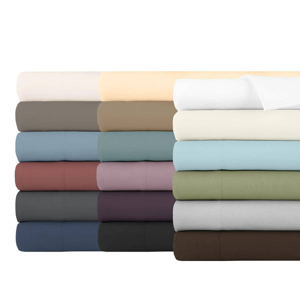 Soft and Luxurious Over-sized Flat Sheet 132 in x 110 in by Vilano springs in All Colors