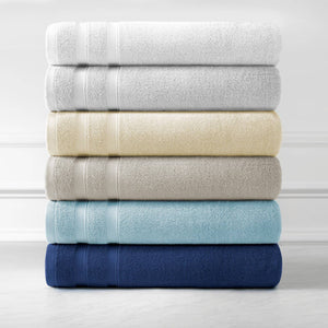 Classic Combed Cotton Soft and Luxury Towel Set by Southshore Fine Linens Stack Image