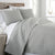 Ultra-Soft Reversible Circle Embroidered Quilt Set in Gray