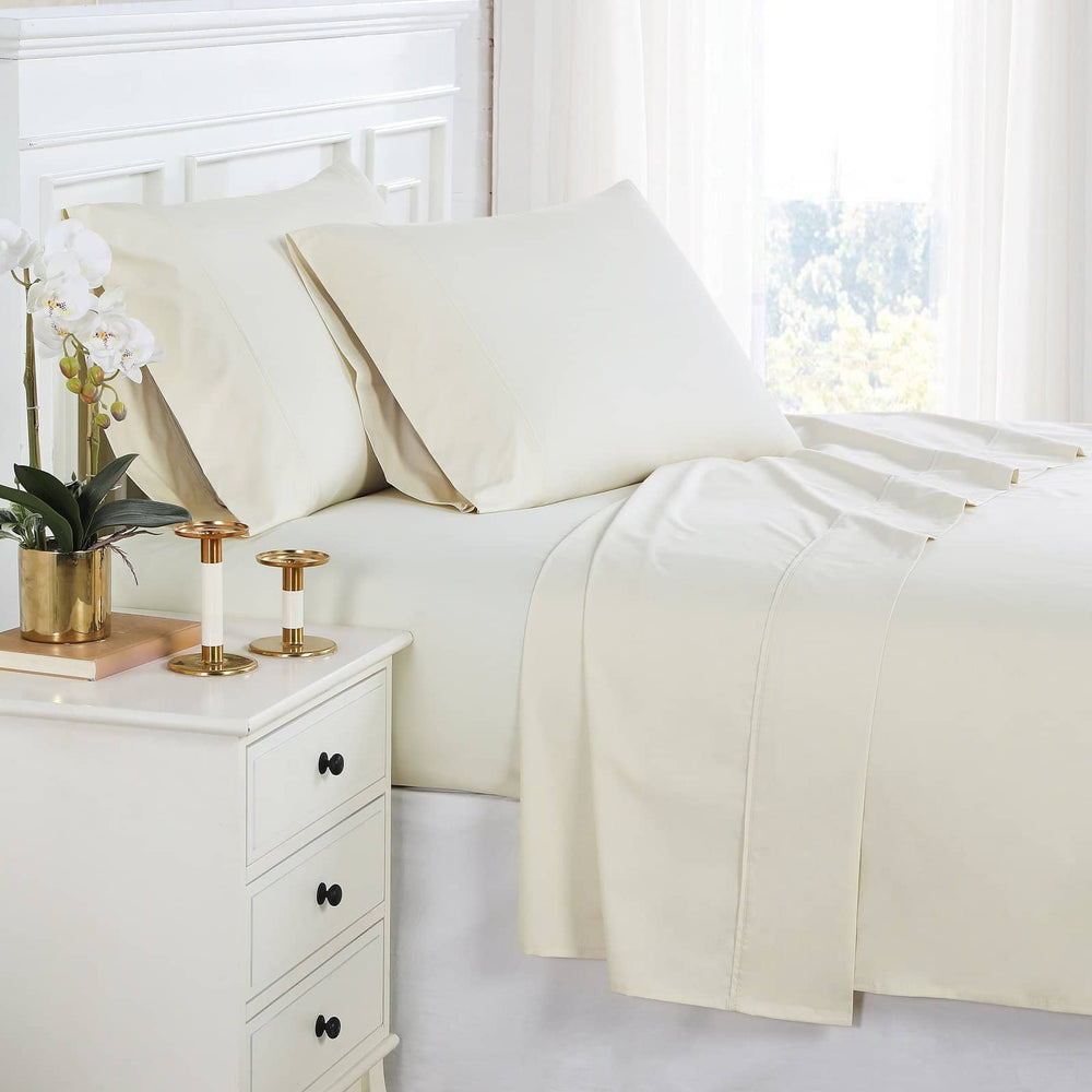 Percale Sheet Set in Cream