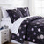 Dandelion Dreams Duvet Cover in Carbon