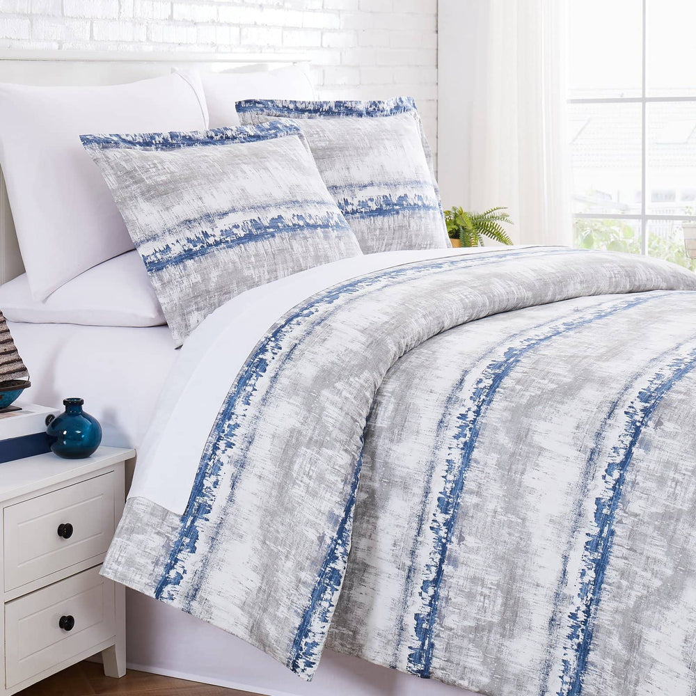 Abstraction Duvet in Blue