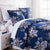 Flora Duvet Cover in Blue