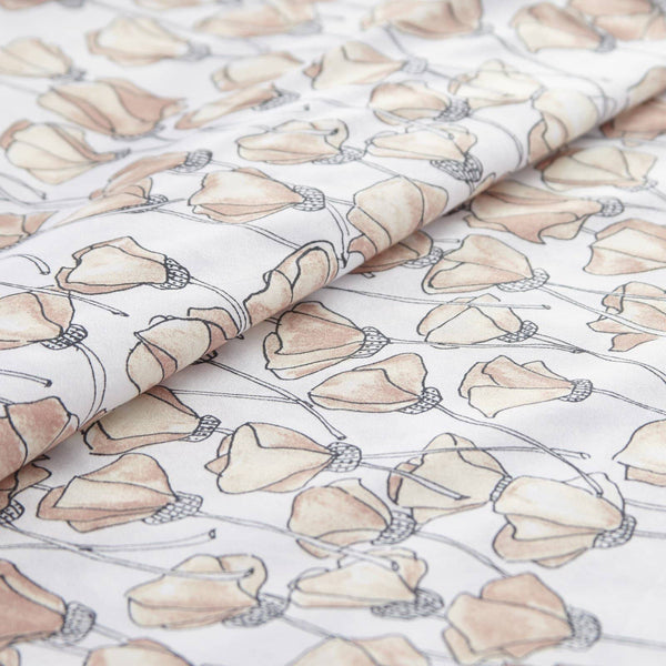 Soft and Comfortable Blush Forevermore Floral Briteyarn Cotton Sheet and Pillowcase Set by Southshorefine Linens Image 3