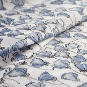 Soft and Comfortable Forevermore Floral Briteyarn Cotton Sheet and Pillowcase Set by Southshorefine Linens Image 3