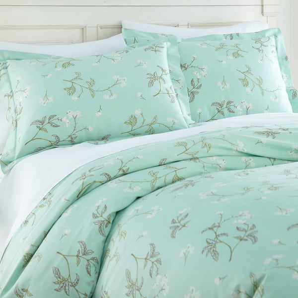 Soft Myosotis Briteyarn Cotton Duvet Cover and Sham Set by Southshore Fine Linens Image 2