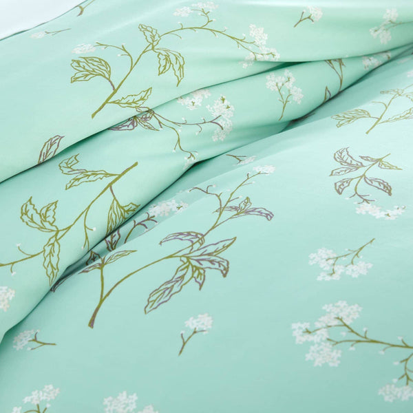 Soft Green Myosotis Briteyarn Cotton Duvet Cover and Sham Set by Southshore Fine Linens Image 3