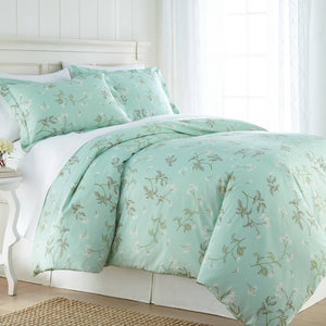 Soft Green Myosotis Briteyarn Cotton Duvet Cover and Sham Set by Southshore Fine Linens Main Image