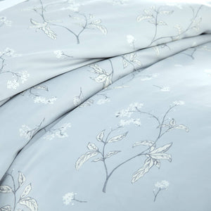 Soft Grey Myosotis Briteyarn Cotton Duvet Cover and Sham Set by Southshore Fine Linens Image 3