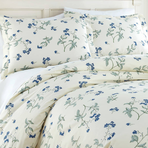 Soft Off White Myosotis Briteyarn Cotton Duvet Cover and Sham Set by Southshore Fine Linens Image 2