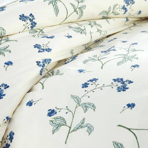 Soft Off White Myosotis Briteyarn Cotton Duvet Cover and Sham Set by Southshore Fine Linens Image 3