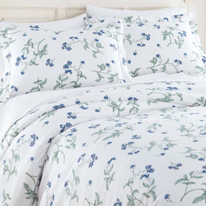 Soft White Myosotis Briteyarn Cotton Duvet Cover and Sham Set by Southshore Fine Linens Image 2