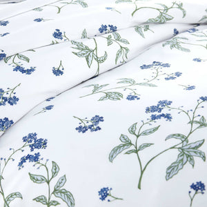 Soft White Myosotis Briteyarn Cotton Duvet Cover and Sham Set by Southshore Fine Linens Image 3