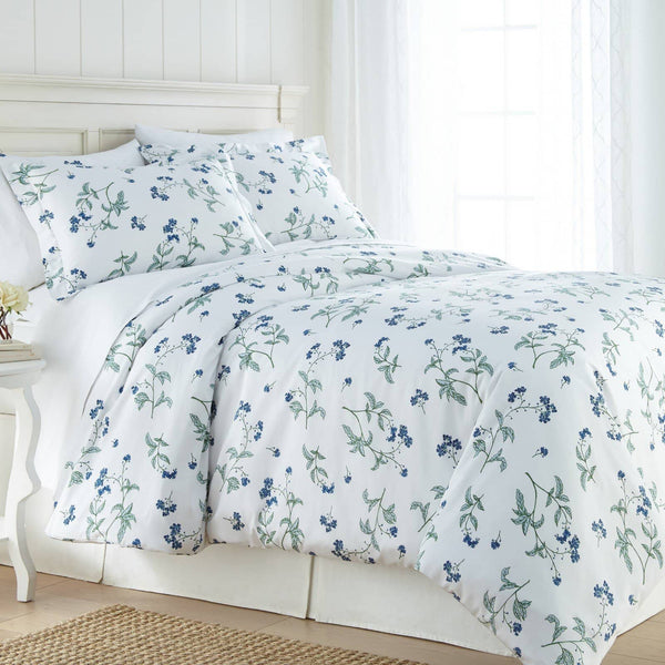 Soft White Myosotis Briteyarn Cotton Duvet Cover and Sham Set by Southshore Fine Linens Main Image