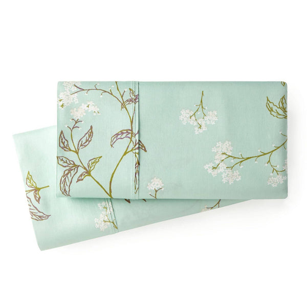 Soft Green Myosotis Briteyarn Cotton Pillow Cases by Southshore Fine Linens Main Image