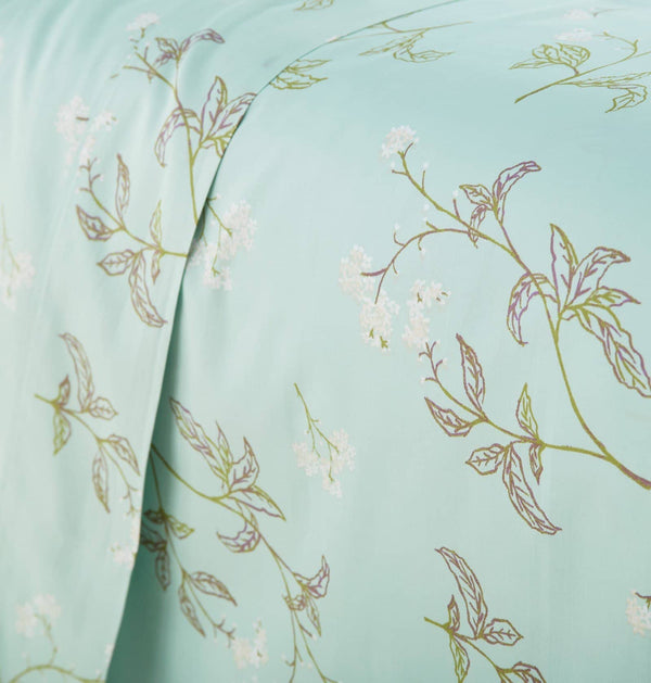 Soft Green Myosotis Briteyarn Cotton Sheet and Pillowcase Set by Southshore Fine Linens Image 3
