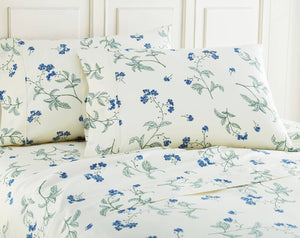 Soft Off White Myosotis Briteyarn Cotton Sheet and Pillowcase Set by Southshore Fine Linens Image 2