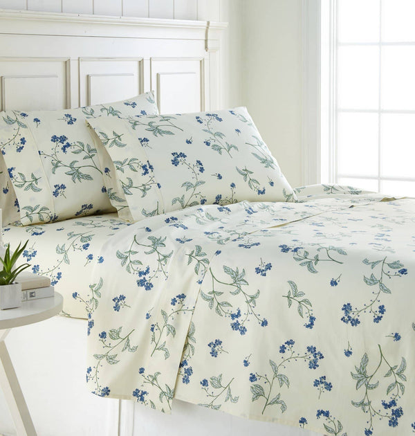 Soft Off White Myosotis Briteyarn Cotton Sheet and Pillowcase Set by Southshore Fine Linens Main Image