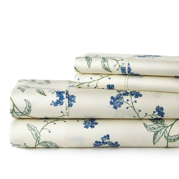 Soft Off White Myosotis Briteyarn Cotton Sheet and Pillowcase Set by Southshore Fine Linens Stack Image